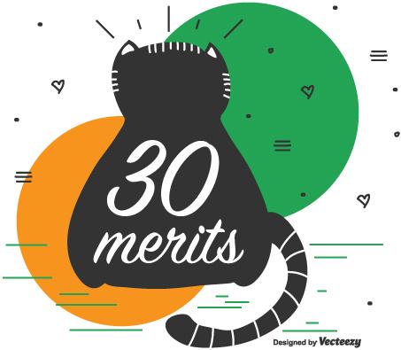 We've Reached 30 Merits!